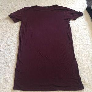HOT ITEM Maroon t shirt dress